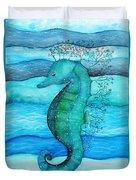 Watercolor Saehorse Duvet Cover