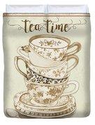 Watercolor Teacups-e Duvet Cover