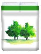 Watercolor Tree Duvet Cover