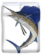 Watercolor Tribal Sailfish Duvet Cover