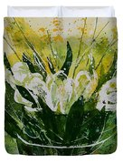 Watercolor Tulips Duvet Cover