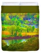 Watercolor View Duvet Cover
