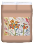 Watercolor - Wallflower Wildflowers Duvet Cover