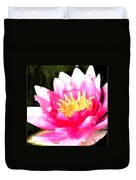 Watercolor Waterlily Duvet Cover