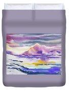 Watercolor - Winter Arctic Impression Duvet Cover