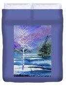 Watercolor - Winter Aspen Duvet Cover
