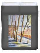 Watercolor - Winter Sunrise Duvet Cover