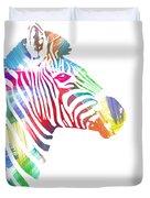 Watercolor Zebra Duvet Cover