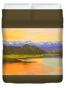 Watercolored Sunset Duvet Cover