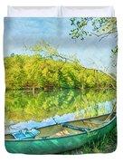 Watercolors At The Lake Duvet Cover