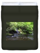 Waterfall And Mountain Creek Duvet Cover
