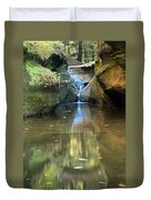 Waterfall And Reflection Duvet Cover