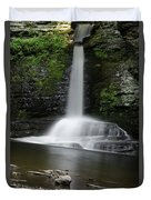 Waterfall At Childs Park Pa Duvet Cover