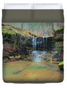 Waterfall At Don Robinson State Park 1 Duvet Cover