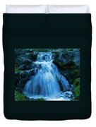 Waterfall At Finch Arboretum Duvet Cover