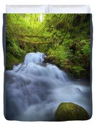 Waterfall At Shepperds Dell Falls Duvet Cover