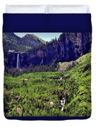 Waterfall At Telluride, Colorado Duvet Cover