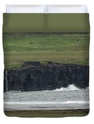Waterfall At The Cliffs Of Moher Duvet Cover