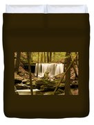 Waterfall At The Ruins Duvet Cover