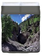 Waterfall At Yankee Boy Basin Duvet Cover