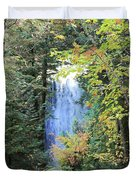 Waterfall Beyond The Trees Duvet Cover
