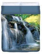 Waterfall Close-up Duvet Cover