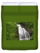 Waterfall Closeup Duvet Cover