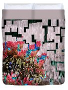 Waterfall Flowers 2 Duvet Cover