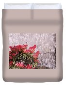 Waterfall Flowers Duvet Cover