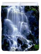 Waterfall Flowing And Ebbing Duvet Cover