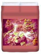 Waterfall Garden Pink Falls Duvet Cover