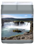 Waterfall - Godafoss Duvet Cover