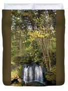 Waterfall In A Park, Whatcom Creek Duvet Cover