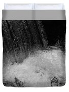 Waterfall In Black And White Duvet Cover
