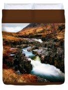 Waterfall In Glencoe Duvet Cover