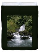 Waterfall In La Fortuna Duvet Cover