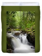 Waterfall In The Forest Duvet Cover