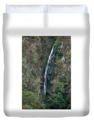Waterfall In The Intag 3 Duvet Cover