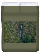 Waterfall In The Intag Duvet Cover