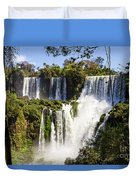 Waterfall In The Jungle Duvet Cover