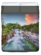 Waterfall In The Texas Hill Country 3 Duvet Cover