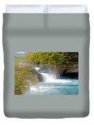 Waterfall In Vicente Perez Rosales National Park Near Puerto Montt-chile  Duvet Cover
