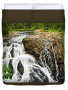 Waterfall In Wilderness Duvet Cover