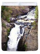 Waterfall In Yellowstone Duvet Cover