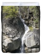 Waterfall Into The Feather River Duvet Cover