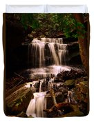 Waterfall Mcconnells Mills State Park Duvet Cover