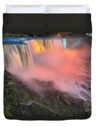 Waterfall Night Lights Duvet Cover