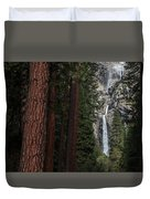 Waterfall Of Pines Duvet Cover