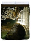 Waterfall Of The Caverns Duvet Cover