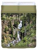 Waterfall On Lava Creek 2 Duvet Cover